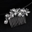 Crystal And Rhinestone Princess Headpieces Bridal Hair Comb