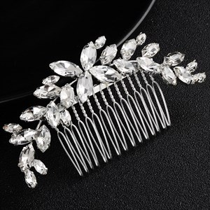 Alloy Rhinestone Princess Headpieces Bridal Hair Comb