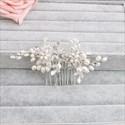 Pearl And Rhinestones Floral Hair Comb Princess Headpieces