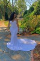 Lace Bodice Strapless Sweetheart Mermaid Wedding Dress With Train