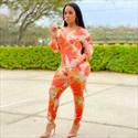 Orange Long Sleeves Plus Size Tie Dye Printed Jumpsuit