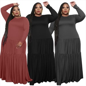 Women's Long Sleeves Plus Size Clothing Maxi Dresses