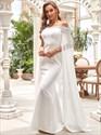 Gorgeous Ivory Off The Shoulder Mermaid Wedding Dresses