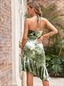 Gorgeous Green Halter High-Neck Asymmetrical Hem Short Prom Dresses