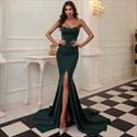 Sweetheart Strapless Mermaid Floor Length Split Front Evening Gown