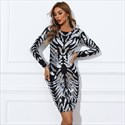 Black Long Sleeves Homecoming Party Dress With Silver Sequins