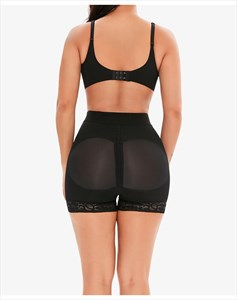 High Waist Lace Embellished Shaper Shorts With Butt Lifter
