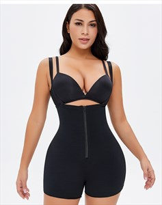 High Waist Tummy Control Shaper Shorts With Zipper Front