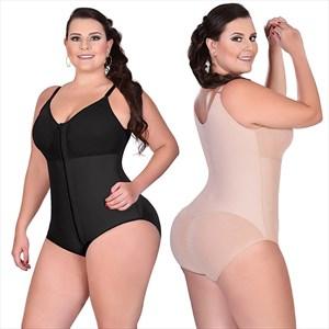 Tummy Compression Plain Shapewear Bodysuit With Butt Lifter