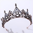 Leaf Baroque Birthday Girl Crystal Bridal Tiara With Pearls