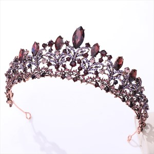 Baroque Crystal Bridal Tiara With Rhinestone Accents