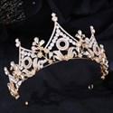 Baroque Crystal Princess Crown With Rhinestone Accents