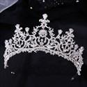 Zircon Crystal Bridal Tiara With Rhinestone Accents