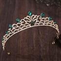 Baroque Leaf Rhinestone Birthday Girl Crystal Tiara