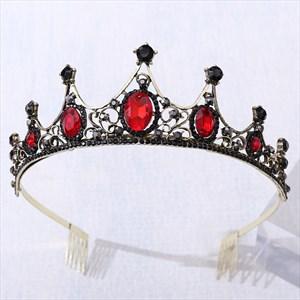 Baroque Rhinestone Crystal Bridal Tiara With Comb