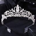 Glittery Crystal Bridal Tiara With Rhinestone Accents