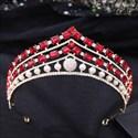 Baroque Pearls Crystal Bridal Tiara With Rhinestone Accents