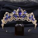 Leaf Crystal Princess Bridal Tiara With Rhinestone Accents