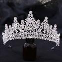Alloy Zircon Princess Bridal Tiara With Rhinestone Accents