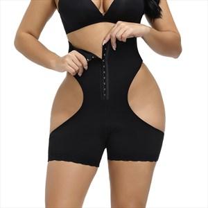 High Waist Hollow Buttocks Tummy Control Shaper Shorts