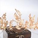 Elegant Simple Golden Leaf Alloy Headpiece