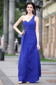 Royal Blue Prom Dresses One Shoulder,Royal Blue Casual Dress Red Carpet
