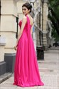 Hot Pink One Shoulder Bridesmaid Dresses,One Strap Fuschia Bridesmaid Dresses