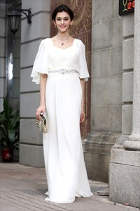 Long White Prom Dresses With Sleeves,White Long Sleeve Maxi Dress
