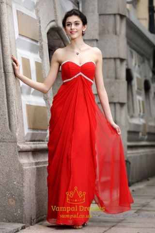 Beautiful Red Party Dresses Red Prom Dresses With Sequins