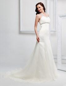 Halter Wedding Dress With Long Train Simple Halter Neck Wedding Dresses Sku Cf638