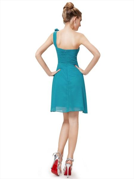 Teal Short Chiffon Bridesmaid Dresses,Short Teal Bridesmaid Dresses UK
