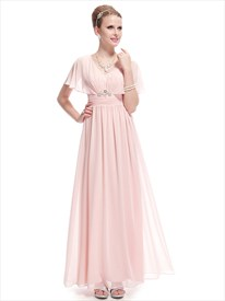 Blush Pink Mother Of The Bride Dresses,Mother Of The Bride Dress With Long Jacket