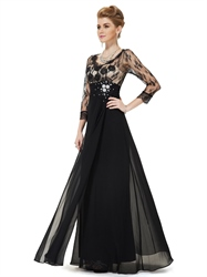 Long Black Mother Of The Bride Dresses With Jackets,Vintage Lace Mother Of The Bride Dresses