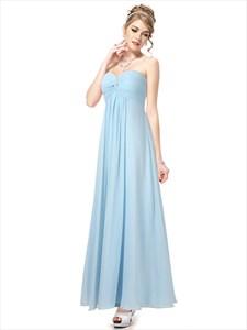 Long Baby Blue Bridesmaid Dresses,Blue Bridesmaid Dresses Wedding