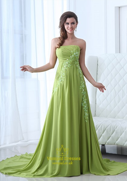 Lime Green Prom Dresses 2021,Neon Green Prom Dresses With Embroidery For Sale