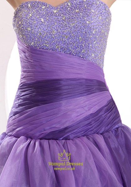 Purple Ball Gown Prom Dress,Purple Ball Gown Quinceanera Dress