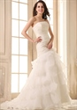 Simple Long Flowy Wedding Gowns,Mermaid Ball Gown Wedding Dresses With Bling
