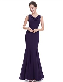 9647c5529f Elegant Navy Blue Floor Length Contrast V-Neck Sequin Prom Dress ...