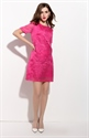 Fuchsia Embroidered Floral Short Sleeve Casual Summer Dresses